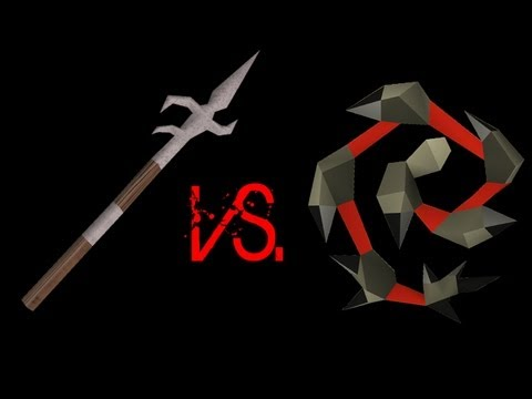 [RS] Stress 95 - Abbysal whip vs. Zamorakian Spear on Steel dragon