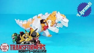 HASBRO - TRANSFORMERS ROBOTS IN DISGUISE WARRIOR CLASS GOLD ARMOR GRIMLOCK RECENSIONE (ita)