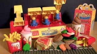 Play Doh McDonalds Happy Meal Ice Cream Playshop Playset Make Burgers IceCream French Fries
