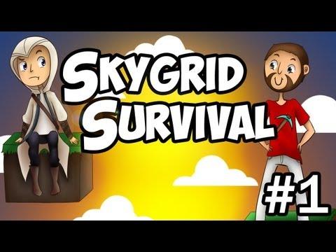 Minecraft: Skygrid survival - Elfjes. eenhoorns en regenbogen #1
