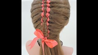 Peinado Hermoso de Cintas Paso a Paso  Braid with Ribbon Step by Step