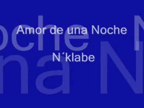 letra de amor de una noche: