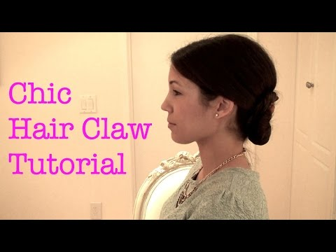 Chic Hair Claw Updo Tutorial