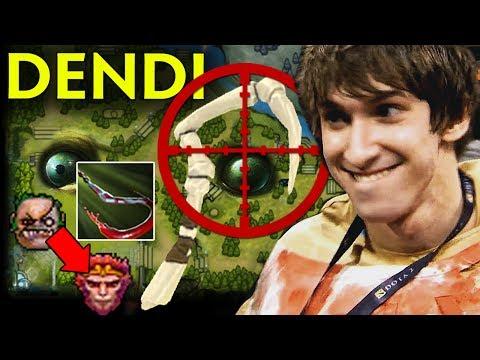 DENDI Pudge WTF Next Level Hook on Monkey - Old Signature SET Dota 2