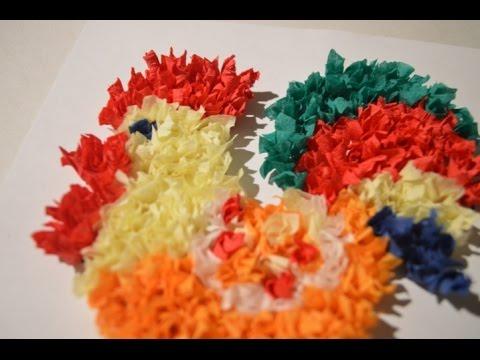 Как сделать цветную бумагу из салфеток
