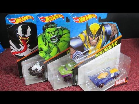 Hot Wheels Marvel Cars Venom Wolverine And Hulk