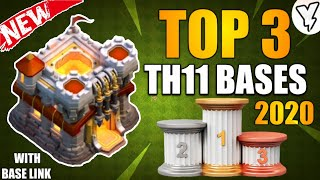 [NEW] TOP 3 BEST TH11 HYBRID/FARMING/DEFENSIVE BASE 2020 | TH11 BASE DESIGN TESTED WITH LINK!! - COC