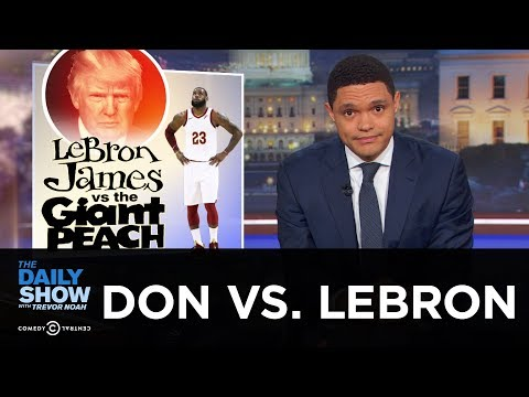 Trump Slams LeBron James on Twitter & Crashes a Rally in Ohio | The Daily Show