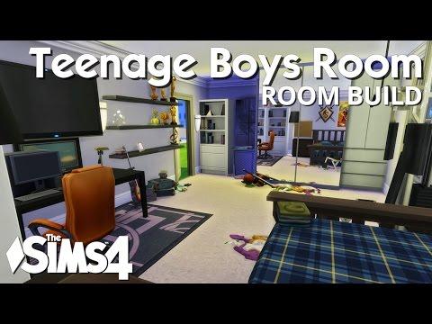 The Sims 4 Room Build - Teenage Boys Bedroom video