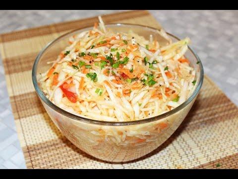 Салат из свежей капусты. Постный овощной салат на все случаи жизни.