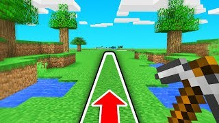 MINECRAFT But You Can ONLY Walk In A STRAIGHT LINE!