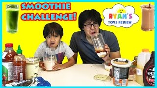 SMOOTHIE CHALLENGE! Super Gross Smoothies for Kids with Ryan ToysReview Family Fun Activities