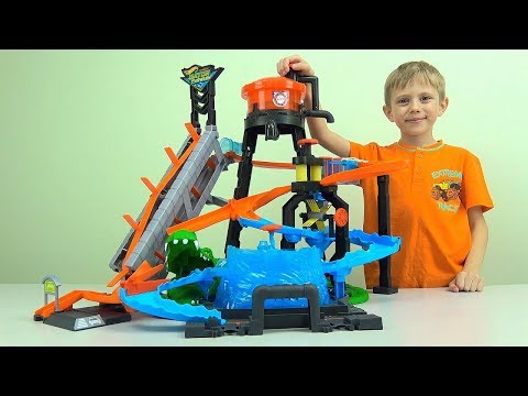АВТОМОЙКА Хот Вилс с Крокодилом и водонапорной башней - Hot Wheels ULTIMATE GATOR CAR WASH for Kids