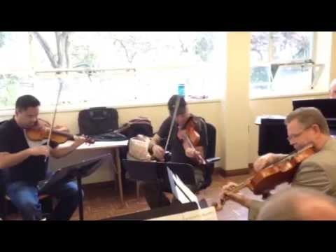Alexander String Quartet Rehearses Invasive Species by Robert Greenberg