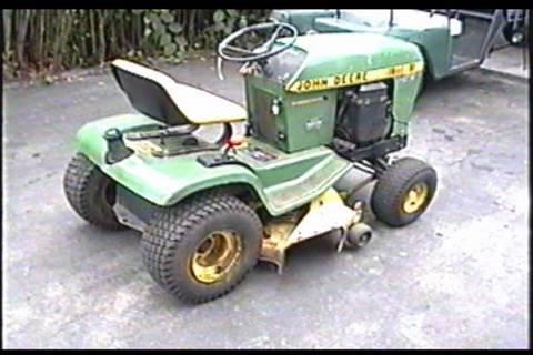 John Deere 116 Tractor Start UP - YouTube