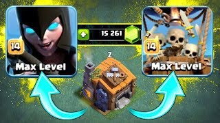 HUGE GEM SPREE!! - Clash Of Clans - NEW MAX LEVEL 14 TROOPS!!