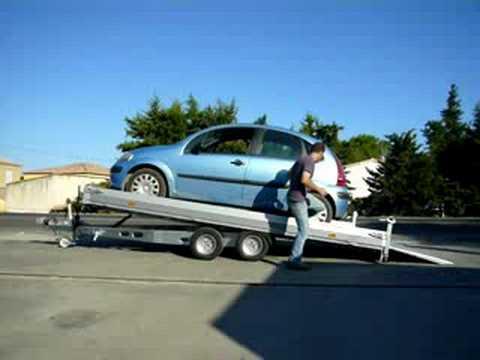 Remorque humbaur porte voiture multi usages youtube for Porte voiture