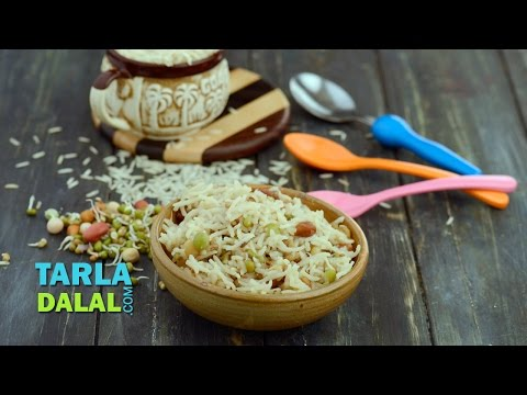 Sprouts Khichdi (Toddler Recipe) by Tarla Dalal