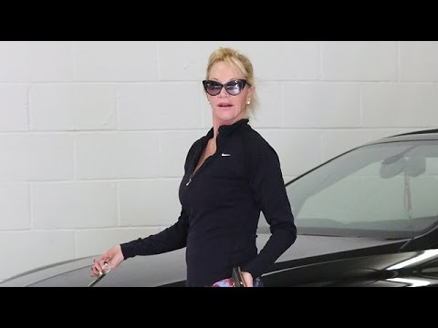 X17 EXCLUSIVE: Lean Melanie Griffith Struts Her Stuff Before Workout