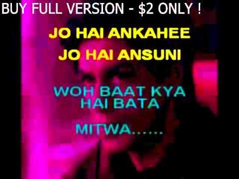 Mitwa -Kabhi Alvida Na Kehna - Karaoke with lyrics.flv