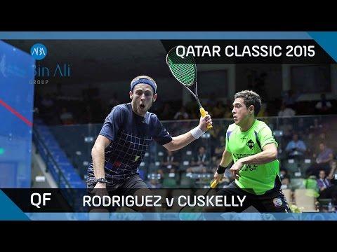 Squash: Qatar Classic 2015 - Men's QF Highlights: Rodriguez v Cuskelly