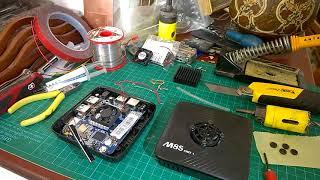 Mecool M8S Pro L Fan Install - Upgrade, Beginning 2 End