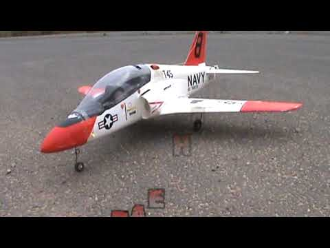 RC BAE Hawk T-45 in Rolling Action