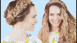 Braided Hairstyles for Curly Hair Tutorial - KayleyMelissa