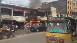 Fire at takeway in mirpur azad kashmir