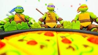 ЧЕРЕПАШКИ-НИНДЗЯ! Видео с игрушками для мальчиков Черепашки-ниндзя: Лабиринт в подземелье!