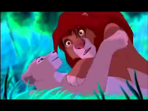 Simba & Nala Kiss ♥ - YouTube Lion King Simba And Nala Cubs Kissing