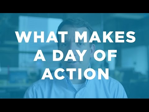 What makes a Day of Action: Organizing Update with Jon Carson