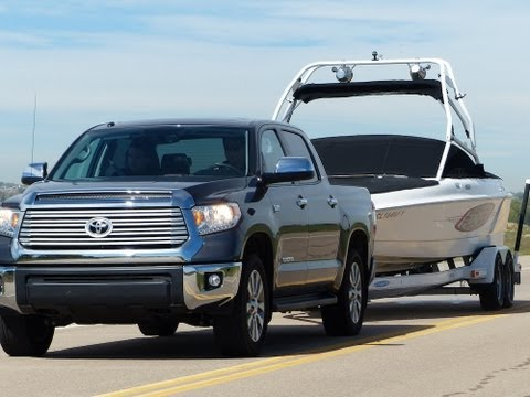 2014 Toyota Tundra vs Ford F-150 vs Ram 1500 0-60 Towing Matchup Review (Part 2)