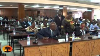 Vote des membres de la cour constitutionnelle: Le groupe parlementaire ANC-ADDI quitte la salle.