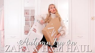 ZARA AND H&M Autumn try on haul... again oops! ~ Freddy My Love