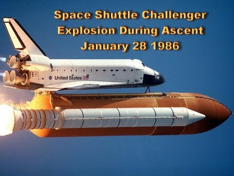 NASA Space Shuttle Challenger Explosion Disaster - 73 Seconds Into Flight January 28 1986