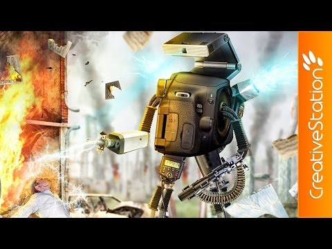 Robot - Speed art (#Photoshop) | CreativeStation