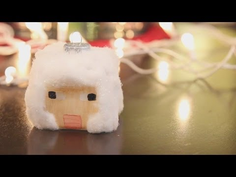 Minecraft Sheep Ornament - DIY GEEKY GOODIES