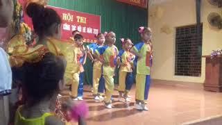 """Màn nhảy"""" Bắc kim thang- Bống bống bang bang""""  cực đáng yêu của các bé xã Kim Sơn"""