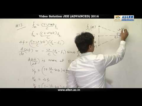 JEE Advanced 2016 Physics Solution Q. 11, 12, 13, 14 (Paper-1) Code-9