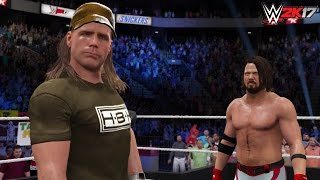 WWE 2K17 Future Scenario: AJ Styles challenges Shawn Michaels! (Custom Story) -PS4