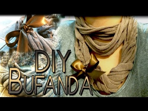 DIY: Bufanda hecha con una t-shirt♥ / scarf made with a t-shirt