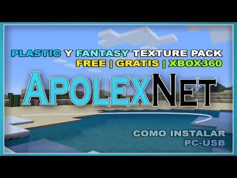 PLASTIC   FANTASY   TEXTURE PACK   MINECRAFT XBOX 360   FREE   GRATIS