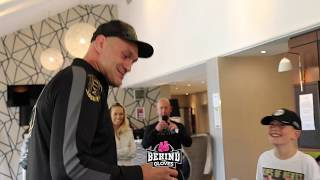 TYSON FURY DANCES W/ HIS YOUNG FANS IN HOTEL LOBBY!