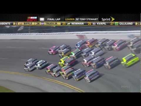 Tony Stewart Flip 2012 Talladega Big one Fall Race
