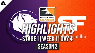 SF Shock vs LA Gladiators   Overwatch League S2 Highlights - Stage 1 Week 1 Day 4