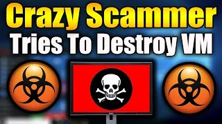 Crazy Scammer Tries To DESTROY VM! | Syskey FAIL | Tech Support Scammer Trolling