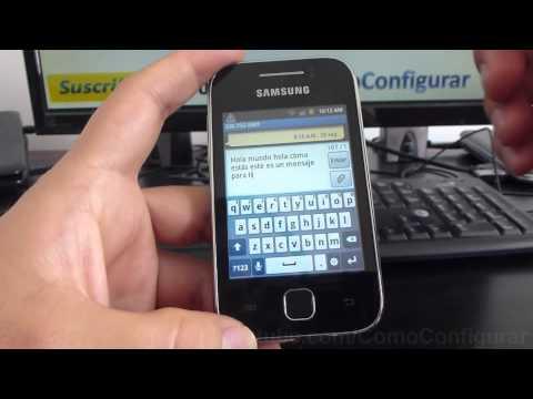 como configurar teclado del samsung Galaxy Y S5360 español Full HD