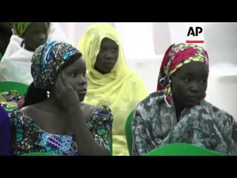 President Goodluck Jonathan meets parents of the 219 kidnapped Nigerian schoolgirls