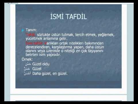 İstanbul İlitam Arapça 9.Hafta - İsmi Tafdil (1)